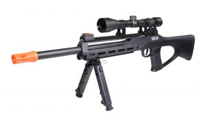 ASG TAC-6 CO2 Semi-Auto Sniper Rifle Kit with Scope, Integrated Laser & Bipod