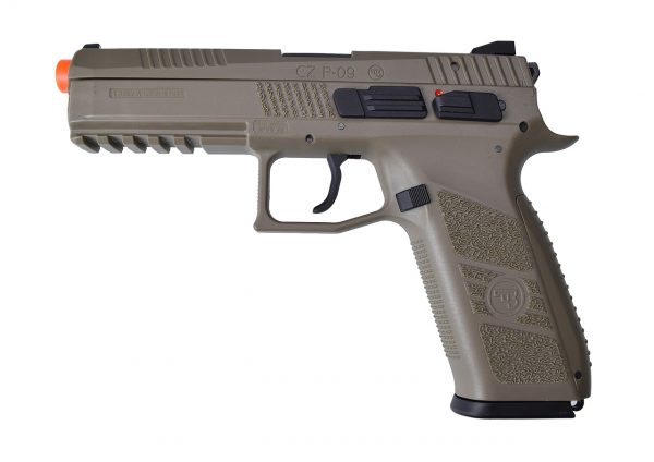 CZ P-09 Gas Blowback Airsoft Pistol - Sportline FDETan-main