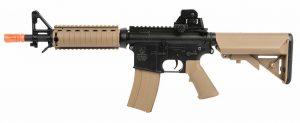 Colt M4A1 CQBR RIS AEG Airsoft Rifle, Tan Black-main