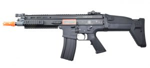 FN Herstal SCAR-L Airsoft Metal Polymer AEG Rifle, Black
