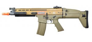 FN Herstal SCAR-L Airsoft Metal Polymer AEG Rifle, Tan