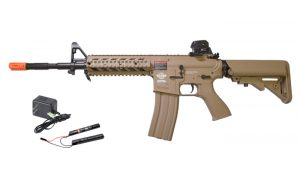 G&G CM16 Raider-L AEG w 9.6v Battery & Charger, Tan
