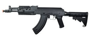 LCT AK-104 AEG Airsoft Rifle w LE Stock, Black-main