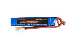 7.4V 1400maH 25C 2S High Discharge Buffer LiPO Battery