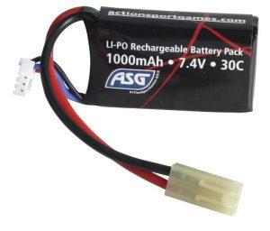 ASG 7.4v 1000mAh LiPO Battery