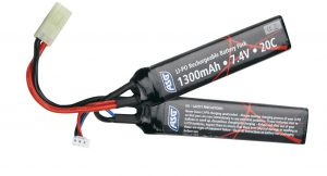 ASG 7.4v 1300mAh LiPO Battery, Mini Tamiya
