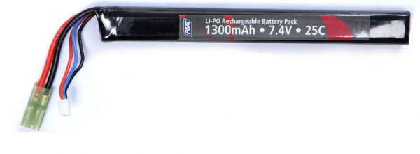 ASG 7.4v 1300mAh Single Stick LiPO Battery