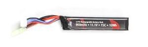 ASG Stock Tube Battery 11.1v 900mAh 15C LiPO