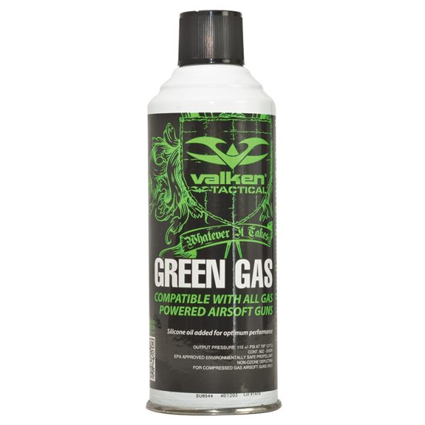 Case of 12 Valken Airsoft Green Gas 8oz Cans - GROUND SHIPPING ONLY