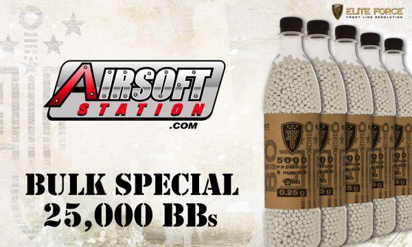 Elite Force Biodegradable Airsoft BBs, 0.25g, 25K Bulk Deal