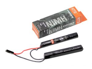 Raptors Airsoft RTQ NiMH Crane Stock 1600mah 9.6v Nunchuck Battery