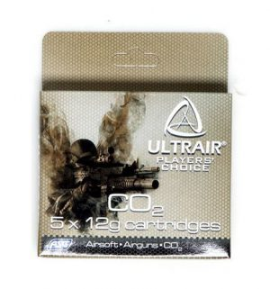 ULTAIR 12G CO2 CARTRIDGES, 5 PACK