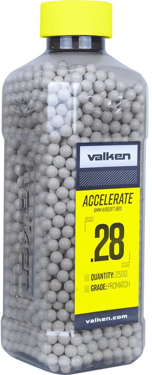 Valken Accelerate 0.28g BBs, 2500 CT., White