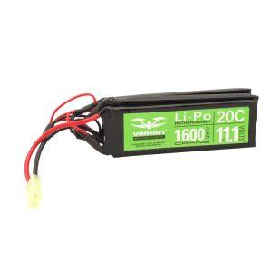 Valken Energy 11.1V 1600 mAh LiPO 20C Battery, Crane Style/Butterfly