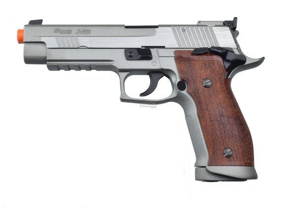SIG Sauer P226 X5 Full Metal CO2 Blowback Airsoft Pistol, Silver & Wood-main