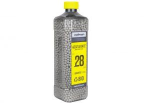 Valken Accelerate 0.28g BBs, 5000 CT., White, Bio