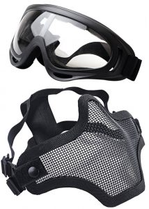 OUTGEEK Two Piece Half Face Airsoft Mask