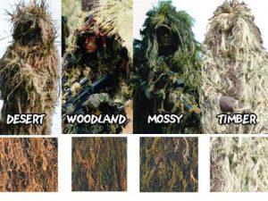 ghillie suit types